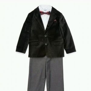 The Children's Place boys black velvet Blazer